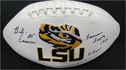 Billy Cannon Hand Signed Autographed Full Size Logo Football LSU Tigers Heisman