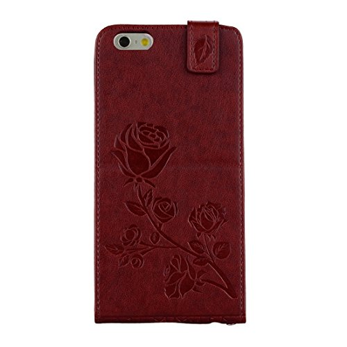 GHC Cases & Covers, Für iPhone 6 Plus & 6s Plus Roses gepresste Blumen Pattern Vertikale Flip Leder Tasche mit Card Slot & Lanyard ( Size : Ip6p6060z )