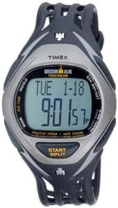 Timex Ironman Triathlon Race Trainer - Reloj de caballero de cuarzo, correa de goma color negro (con pulsómetro, alarma, cuenta vueltas, luz, cronómetro)