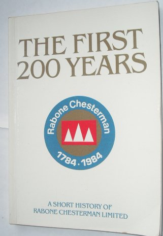 The first 200 years: A short history of Rabone Chesterman for sale  Delivered anywhere in USA