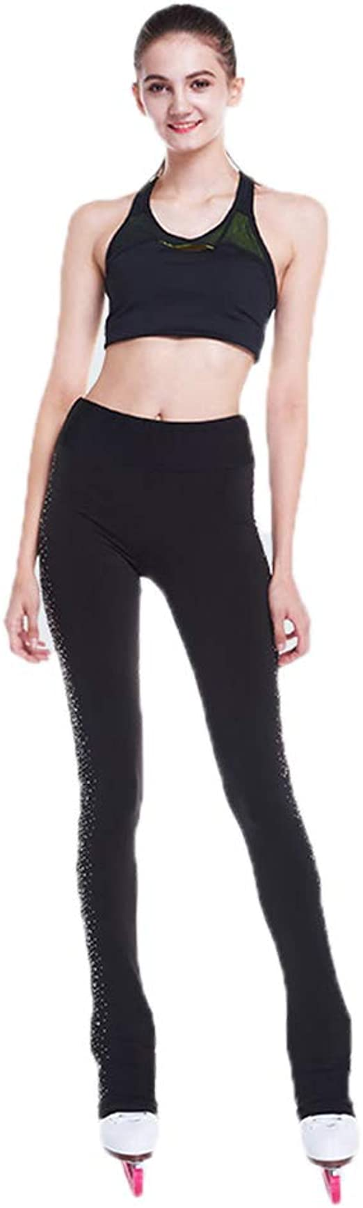 Details about  /Figure Skating Pants S103 Ribbonette Leggings 2 Colors Sizes Youth 6-8 to AL