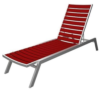 Amazon.com: Euro chaise Final: acabado en plata, asiento y ...