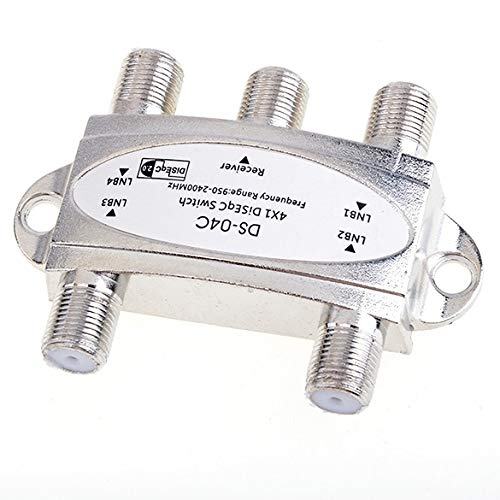 Wideband 4x1 DiSEqC 1.0 Model 4x1W Premium Satellite Switch FTA Dish LNB