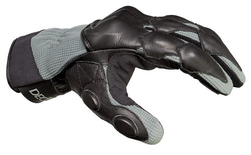 Decade Motorsport Street Gloves (Black and Gray, Large/X-Large) by DECADE (Image #1)