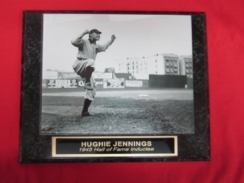 Tigers Hughie Jennings Collector Plaque w/8x10 Vintage Photo