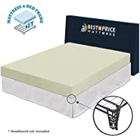 Best Price Mattress 6 Memory Foam Mattress and Premium Bed Frame Set, Full