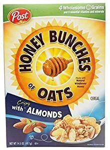 Post Honey Bunches Of Oats With Almonds 14.5 Oz. Pack Of 3.