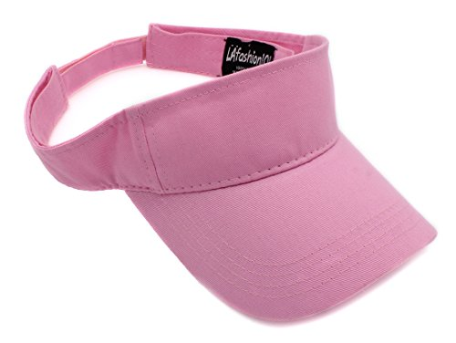 LAfashion101 Unisex Visor Lightweight & Comfortable - Ideal For Sports & Outdoor Activities - Available in Many Colors, PNK