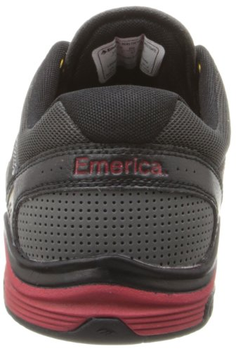 Emerica THE BRANDON WESTGATE - Zapatillas de skateboarding de cuero para hombre - grey/black/red