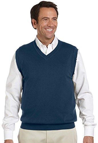 Devon & Jones Men's V-Neck Sweater Vest