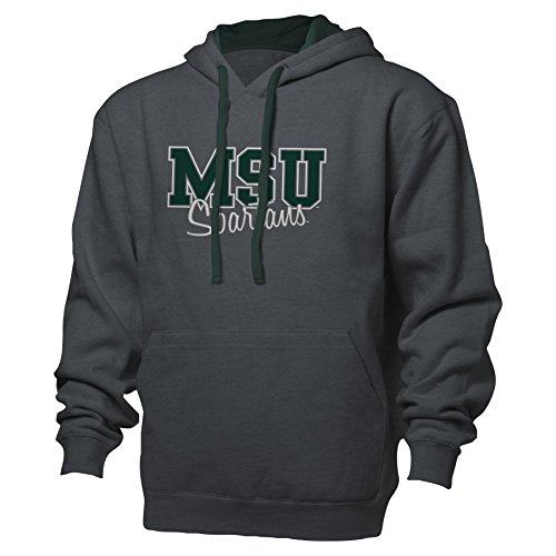 NCAA Michigan State University Women's Benchmark Color Block Pullover Hood, Small, Graphite/Athletic (Michigan State University Shorts)