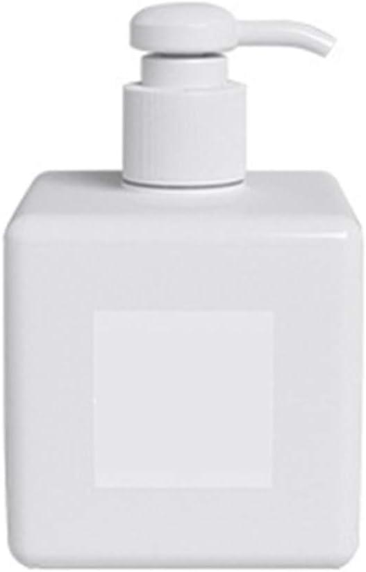 P12cheng Botella de Viaje, envases vacíos para Viajes, 250/450 ml, dispensador de jabón líquido de plástico, Botella de Bomba de presión Recargable, Azul 250 ml, plástico, Blanco, 250 ml