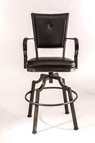 Bar Stool Black Hillsdale Furniture (Hillsdale 5763-830 Castlebrook Swivel Bar Stool, Black)