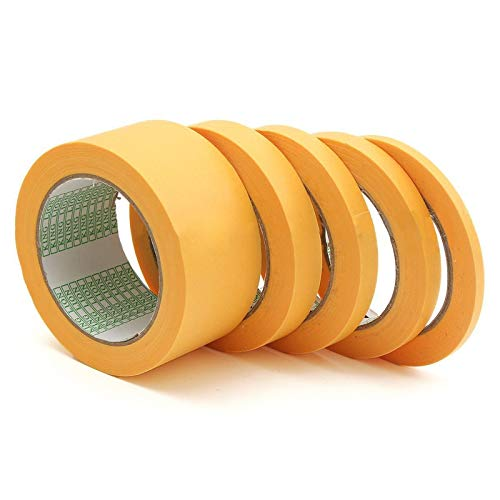Measuring Tape Mag (Masking Tape Paint - 10mm 12mm 18mm 50mm Yellow Tape Adhesive Masking Paint Spray Paper 50m - Videotape Sprayer Recording Measure Mag Record Atomizer Magnetic Atomiser - 1PCs)