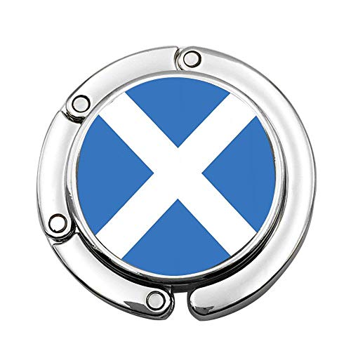 (keyishangmaoLu Scottish Flag of Scotland Saint Andrews Cross Accurate Dimensions Proportions and Colors Saltire Ensign Foldable Purse Hook for Table - Bag Hanger Collection-Desk Hooks for Purse)