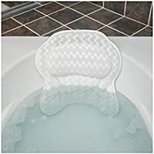 QuiltedAir Bath Pillow - Luxury Bathtub Pillow with 3D Air Mesh Technology, Machine Washable - Quick-drying and Includes Washing Bag and Travel Case (Luxury Escape)