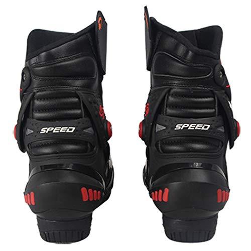 da Anti Microfibra Crociera Stivali Stivale in Antiproiettile Black Scarpe Protezione Motocross da da Slittamento Pelle Stivale Stivale Strada 8UHxfqw5U