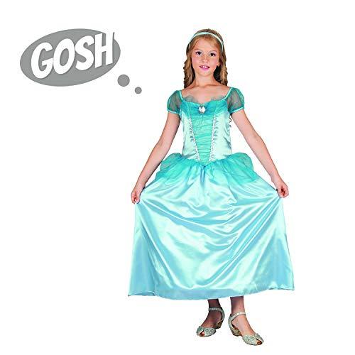 Halloween Princess Dress - Top Blue Cinderella Costume Fancy Dress Funny Outfit ()
