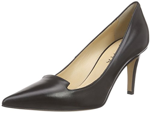 Mujer 10 Zapatos Evita Shoes Tacón Negro para con Cerrada Pump Punta de Schwarz 7wHqw6x