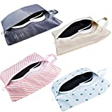 M-jump 4 PCS Portable Travel Shoe Bags,Multicolor Waterproof Storage Organizer Bag for Men Women