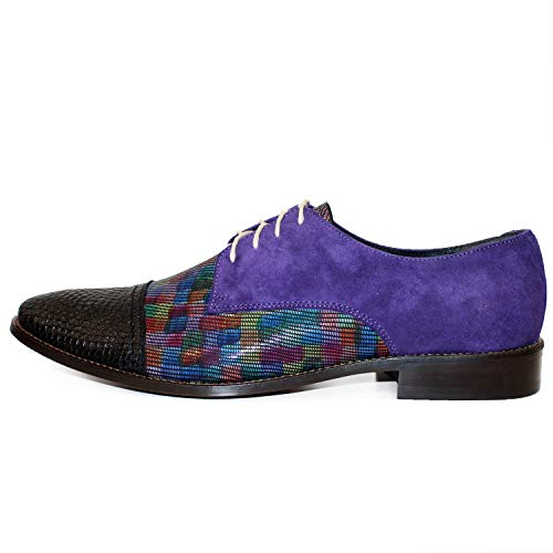 pelle italiana fatta In Peppeshoes Modello Osklivello Colorful Cowhide Oxford per Soft Shoes Lacer mano a uomo CwItXpqx
