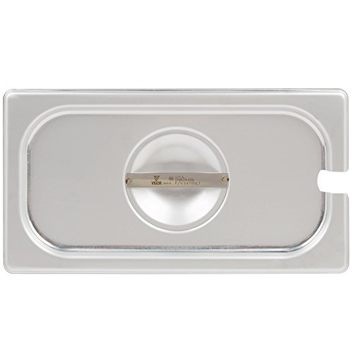 TableTop King 1/3 Size Slotted Stainless Steel Steam Table / Hotel Pan Cover by TableTop King