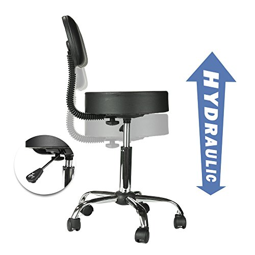 PARTYSAVING Professional Medical/Drafting/Massage/Office Swivel Stool with Removable Backrest GPL1323 by PARTYSAVING