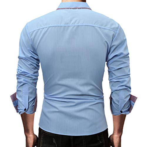 ... Hombres Camiseta Slim fit Business Casual Men Fashion Slim Fit Casual Short Sleeves Shirts Tops Blusa Deportivas Pollover: Amazon.es: Ropa y accesorios