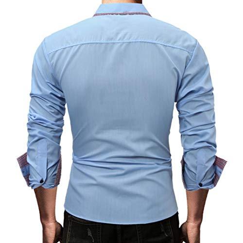 ... Hombres Camiseta Slim fit Business Casual Men Fashion Slim Fit Casual Short Sleeves Shirts Tops Blusa Deportivas Pollover: Amazon.es: Ropa y accesorios