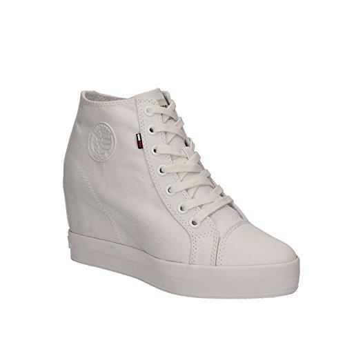 White white Wedge Nice Tommy Sneaker Damen 1D1 Hilfiger 100 881qwv