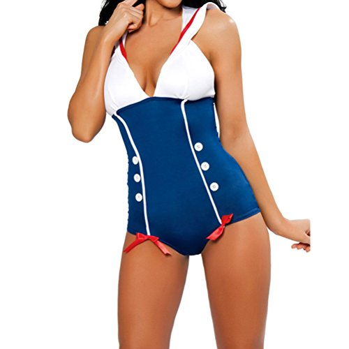 [Nanxson(TM) Women's Sexy Navy Sailor Suit Adult Costume EXW0028 (navy)] (Bunny Dress Tux Tails Adult Costumes)
