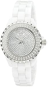 """Akribos XXIV Women's AKR457WT """"Lady Diamond Collection"""" Crystal-Accented Watch"""