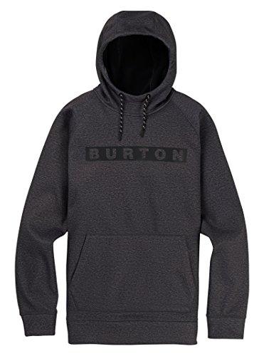 - Burton Men's Crown Bonded Pullover Hoodie, True Black Heather W19, Medium
