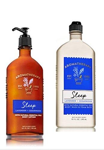 Aromatherapy Body Cream Lavender - Bath & Body Works SLEEP - Lavender & Cedarwood Body Wash & Foam Bath and Lotion Set