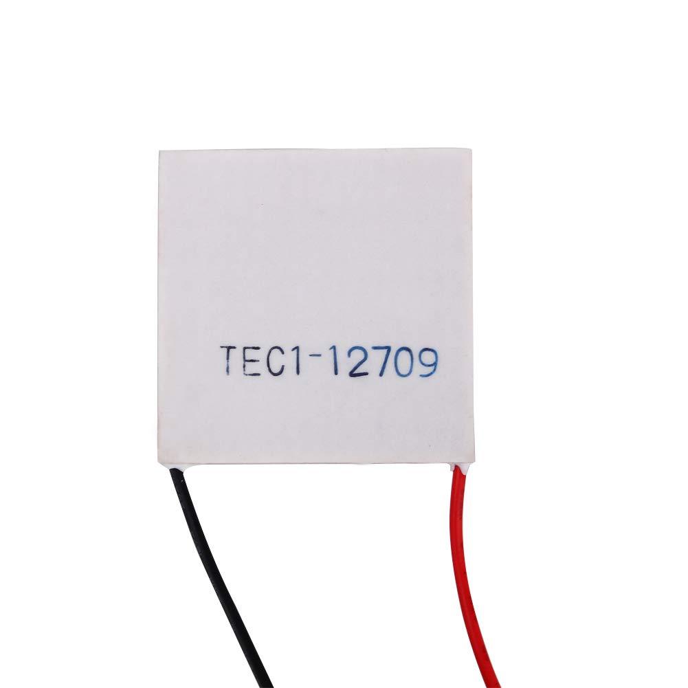 12V TEC1-12709 Enfriador Termoel/éctrico Disipador de Calor Enfriamiento de la Placa Peltier 40mm x 40mm Disipador de Calor de 100W