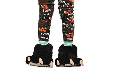 Lazy Adulte Slipper Unisexe Paw Bear Black One Pantoufles TPwTqO8