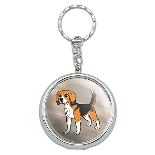 Graphics and More Portable Travel Size Pocket Purse Ashtray Keychain Dog Puppy - Beagle Pet Dog (Ash Tray Key Chain)