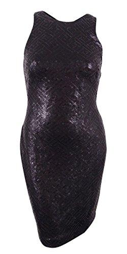 Lauren Ralph Lauren Women's Sequin Sheath Dress (8, Black/Light Heather)