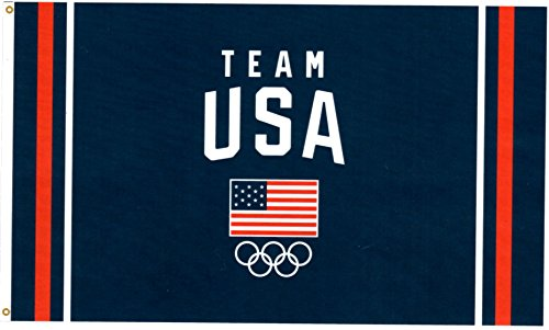 Team USA Olympic Rings Polyester Flag 3ft x 5 ft