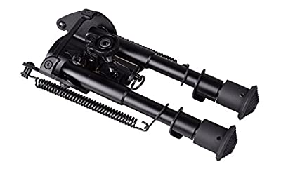 """9"""" to 13'' Adjustable Height Spring Return Tactical/Sniper Profile Hunting Rifle Bipod Sling Swivel Mount"""