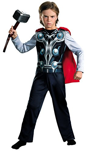 Thor Ultimate Costume (UHC Boy's Avengers Thor Outfit Movie Theme Child Halloween Fancy Costume, Child S (4-6))
