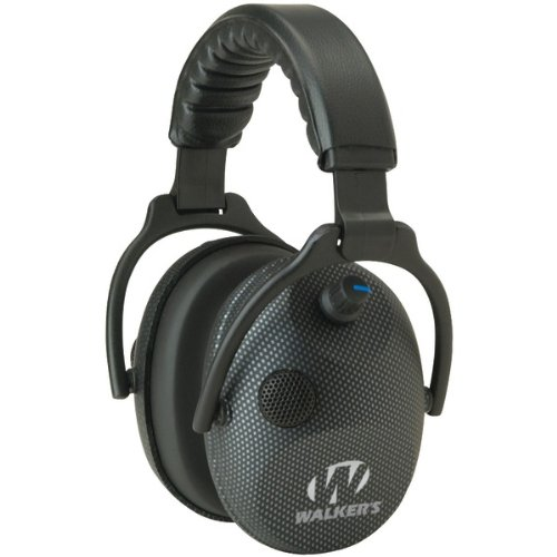 WALKERS GAME EAR GWP-AMCARB Alpha Power Muffs with Microphone (Carbon Graphite) by Walker's Game Ear
