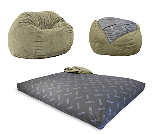 CordaRoy's Chenille Bean Bag Chair, Convertible Chair Folds from Bean Bag to Bed, As Seen on Shark...