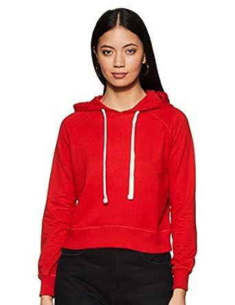 Amazon Brand - Symbol Women's Cropped Cotton Blend Sweatshirt