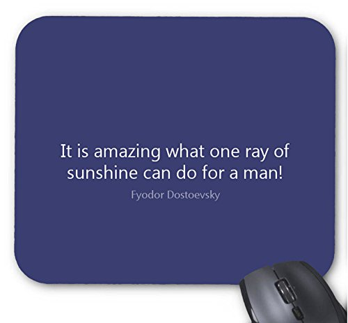 Mouse Mat It Is Amazing What One Ray Of Sunshine Can Do For A Man! Mouse - Ray Is Color What Favorite Ray