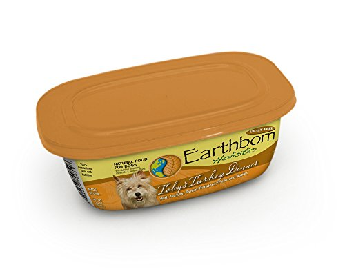EARTHBORN HOLISTIC, Toby's Turkey Dinner in Gravy With Turkey, Sweet Potatoes, Carrots and Pumpkins, 8 Ounce Can