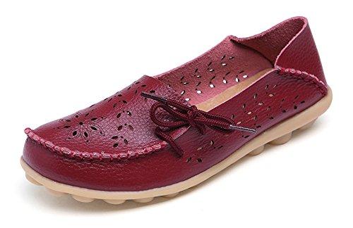 Wine Women's Loafer VenusCelia Walking Flat Burgundy Breathable Comfort OTUUxBw0q