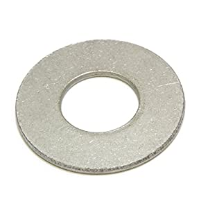 "3/8"" Stainless Flat Finish Washer 7/8"" OD (100pc) by Bolt Dropper, 18-8 (304) Stainless Steel"