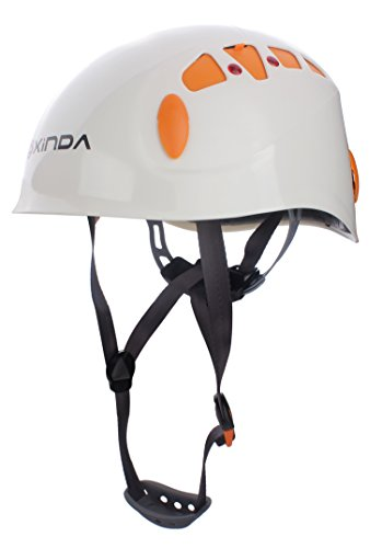 Zowaysoon Adjustable Rock Climbing Helmet Outdoor Helmet for Caving Riding Cycling (White)