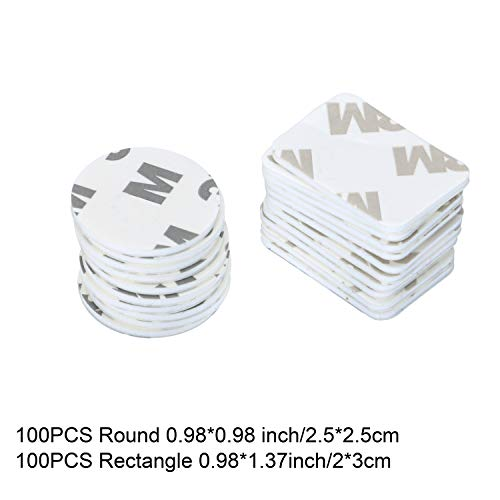 200 PCS Adhesive Replacement Kit Double-Sided Foam Tape High Bond Dots Conformable Acrylic Glue Strong Pad Mounting Tape Adhesion for Wall Surface Balloon Leather Rubber Mirror Face, White ()